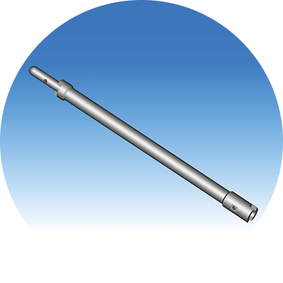 Straight drill extension <br /> with couplings<br /> <br /> Standard length <br /> 1000 mm & 2000 mm