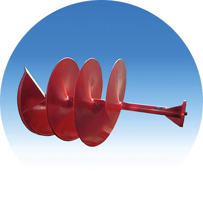Earth auger with <br />